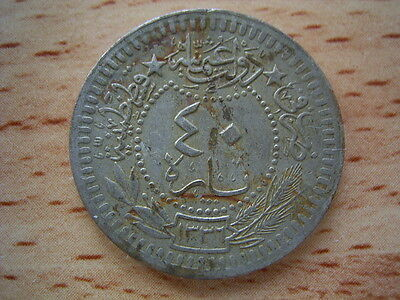 Turkey AH1336  year 4 , 40 para    coin collectable.