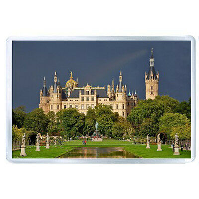 AU FRIDGE  MAGNET schwerin castle germany park pond sculptures castle 76137