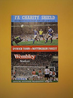 FA Charity Shield - Ipswich Town v Nottingham Forest - 12th August 1978