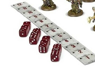 Warhammer 40K - 8th Edition - Combat Ruler and Dice - NEW