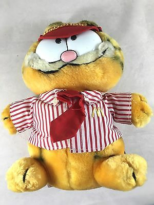 80's Dakin 1978 1981 Garfield Plush Soft Toy McDonalds Employee Rare Collectable
