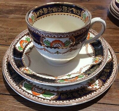 #1 Trio Alfred Meakin England Caledonia Teacup Coffee Saucer Cake Plate Vintage