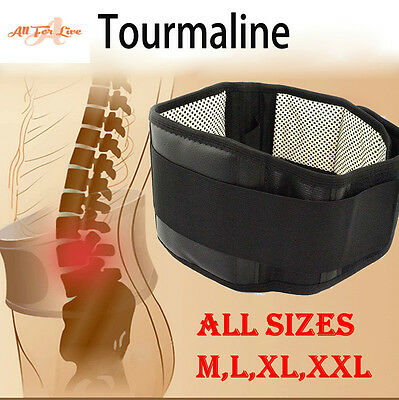 Lumbar Self Heating Belt Tourmaline Magnetic Back Support Pain Relief Therapy