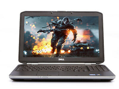 "Cheap Dell Gaming Laptop E5520 15.6"" Intel Core i3 2.20Ghz Win 10, DVD, HDMI"
