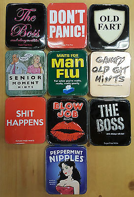 Adult Novelty Mint Tins, Sweets, Candy Packs, Peppermint