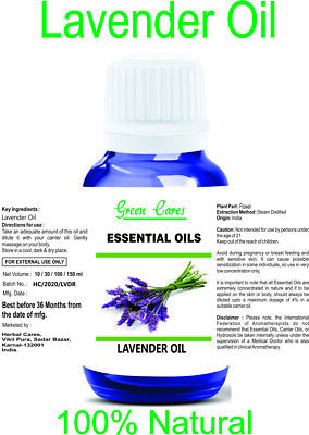 Lavender Oil 100% Natural Pure Undiluted Uncut Essential Oils 5Ml To 100Ml