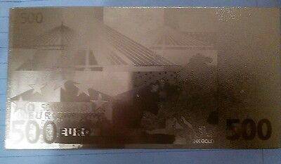 500 euro Limited Bank Note 24 Kt 0.999 GOLD Foil