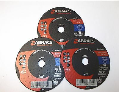 ABRACS METAL CUTTING DISCS ANGLE GRINDERS VARIOUS SIZES 1mm 3mm THICKNESS