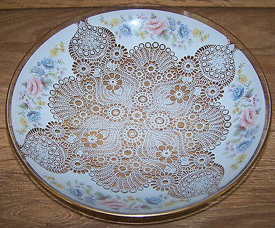 Lovely Vintage Chance Glass Dish Floral & Lace Pattern