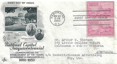 UNITED STATES - Illustrated First Day Cover 1950 Establishment of Fed Goverment