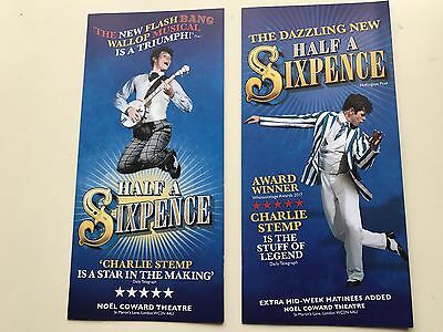2 x Different flyer HALF A SIXPENCE Charlie Stamp Noel Coward Theatre