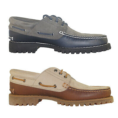 Timberland 3 Eye 3I Padded Collar Heritage Classic Boat Mocassin Sneakers A1P4U