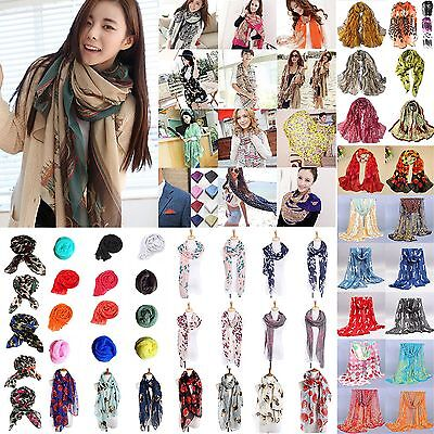 Neu Fashion Women's Long Soft Scarf Wrap Shawl Stole Scarves Chiffon Pashmina