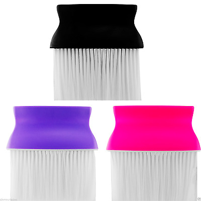 Pro Dmi Salon Barber Style Neck Brush Black Purple Fuchsia For Hairdresser Use