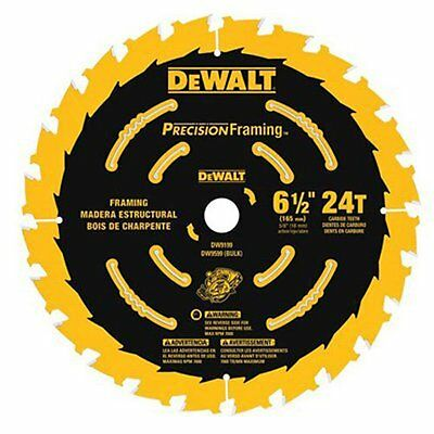 DEWALT DW9199 6-1/2-Inch 24T Precision Framing Saw Blade - NO SALES TAXES