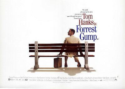Original Vintage UK Mini Quad Poster Tom Hanks Forrest Gump