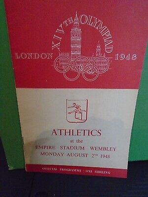 London Olympics 1948 Athletic Programme 2nd August with Original Ticket
