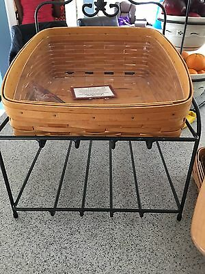 Longaberger Large Bakers Rack Wrought Iron Baskets Liners Cover