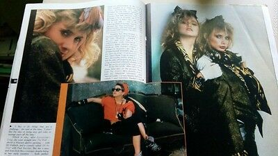 Madonna rare mag Magazine 1985 Desperately seeking Susan Rosanna Arquette + DVD
