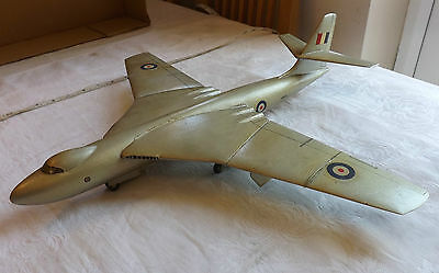 Military Wooden Trench Art RAF Vickers Valiant  Bomber Plane Recognition (1444)
