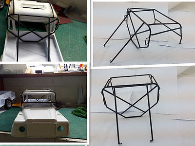 1/10 Adventure Roof Luggage Metal Roll Rolling Cage for RC Land Rover D90 Pickup