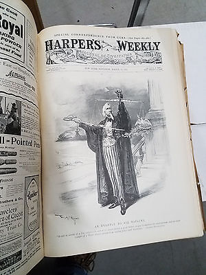 1898 Harpers Weekly   FULL YEAR 1,300 pgs engravings,photos Spanish American War