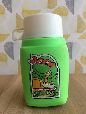1990s Teenage Mutant Hero Turtles Thermos Roughneck Flask Retro Cartoon Green