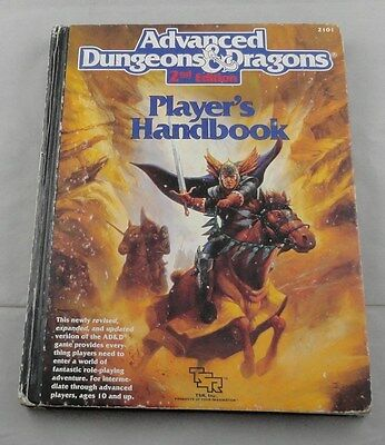 Advanced Dungeons and Dragons 2nd Ed Player's Handbook AD&D TSR2101