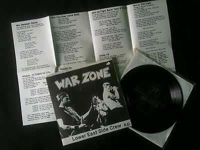 "Warzone - Lower East Side Crew EP  7"" US 1988 VG+/VG+  # Punk"