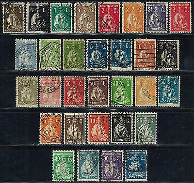 PORTUGAL Sc# 207 //268, 400 // 416 (31 stamps) used Ceres (1912-1926) Postage