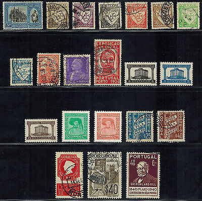 PORTUGAL Sc# 378 // 703 (38 early stamps) Used & MH (1926-1948) Postage