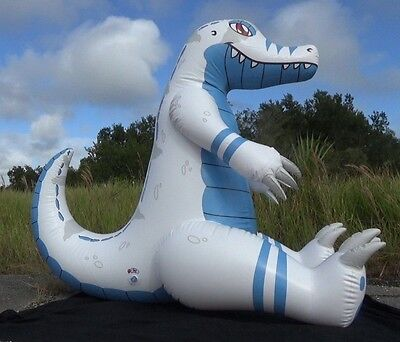 Soft Massive Inflatable Albino Gator Toy Made by DeRG