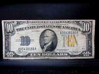 1934-A $10 North Africa Silver Certificate ✪ Fine F ✪ 186 L@@k Now ◢Trusted◣