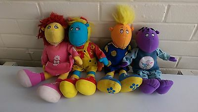 Tweenies Soft Plush toy bundle. Bella, Milo, Fizz, Jake.