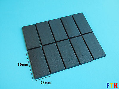 Warhammer 25x50mm Base (10 pcs, RECTANGLE CAVALIER)