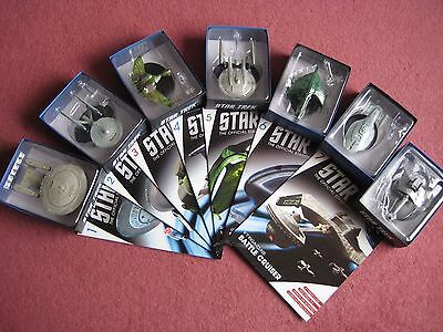starTrek Eaglemoss Collection 7 ships.issue 1,2,3,4,5,6,7. all with magazine.