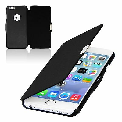 Flip Cover Schutzhülle Slim Case Handyhülle Bookstyle f. Apple iPhone 6s Schwarz
