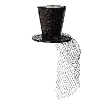 Net Yarn Small Top Hat Hairband Victorian Gothic Lolita Masquerade Party Vintage