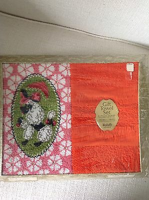 Vintage Poodle Gift Towel Set New