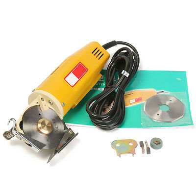 220V 70mm Rotary Blade Electric Round Cloth Cutter Fabric Cutting Sawing Machine