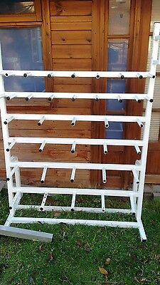 Bargain !!! White Metal Storage Weight Plate Holder Rack 3 Available To Clear !