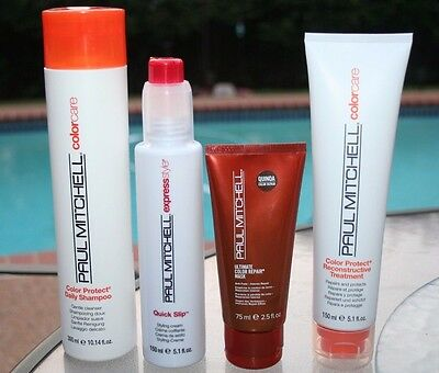 Paul Mitchell Color Protect Shampoo, Reconstructive Treatment, Quick Slip & Mask