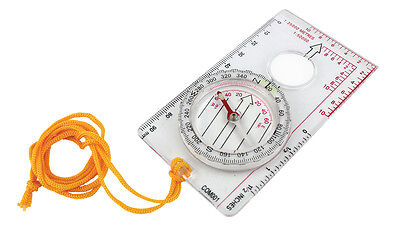 Plastic Orienteering Map with Compass - Luminous strip and Magnifier -