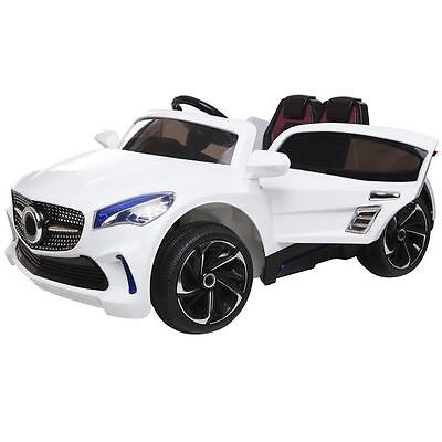 Kids Ride On Car  Mercedes Benz CLA Style  12 Volt Motor  White/Black/Red