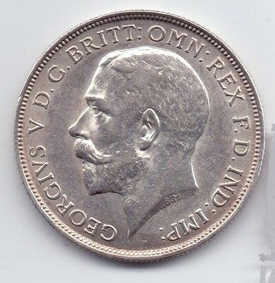 1917 George V Silver Florin Coin Two Shillings