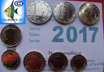 Serie 8 Pieces Luxembourg 2017 Unc