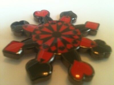 Snowflake Spinner Suited Card Guard Poker Hand Protector Metal NEW