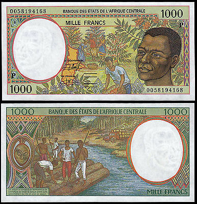 CENTRAL AFRICAN STATES 1000 FRANCS (P602Pg) 2000 CHAD UNC