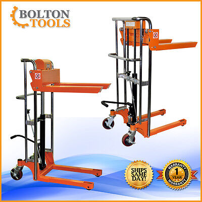 Bolton Tools Pallet Stacker Jack Lift Foot Operated 880 lb TF40-15