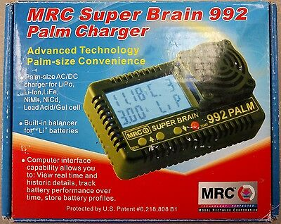 MRC Super Brain 992 Palm Charger AC/DC Charger for LiPo Li-Ion LiFe NiMh NiCd